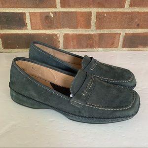 Nurture by Lamaze blue suede slip on loafers